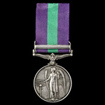 General Service Medal 1918-1962, GVI, 1 Clasp: Palestine 1945-48 awarded to Fusilier A. O'Brien, ...