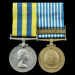 Korea Pair awarded to Trooper J. Crossley, 5th Dragoon Guards who saw service in Korea during the...