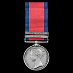 Military General Service Medal 1793-1814, 2 Clasps: Vittoria, Toulouse, awarded to Private James ...