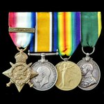 Great War 1914 Cavalryman's trio and Territorial Efficiency Medal group awarded to Corporal later...