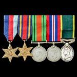 Second World War Burma campaign and Territorial long service group awarded to Private B. Evans, T...