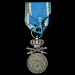 Romania – Kingdom of: Long Service Medal 2nd Class in silver with swords, 1932-1947 issue, with o...