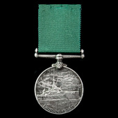 Royal Naval Reserve Long Service and Good Conduct Medal, EVII bust, awarded to Fireman 1st Class ...