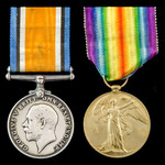 Great War pair awarded to Private W.C.A. Beavon, Gloucestershire Regiment, later Machine Gun Corps.