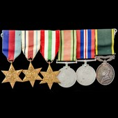 Second World War North Africa and Italy campaign Territorial long service group awarded to Crafts...