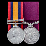 South Africa Boer War and long service pair awarded to Regimental Quartermaster Sergeant W.A. Jut...