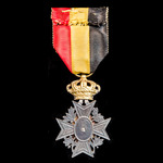 Belgium: Special Decoration for Mutuality, 1st Class with Rosette.