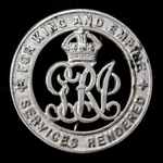 Silver War Badge, reverse numbered: 'B205056', as awarded to Sapper W.A. Newman, Royal Engineers,...