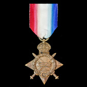 1914-1915 Star awarded to Private F.E. Burns, East Kent Regiment, later Labour Corps who served o...