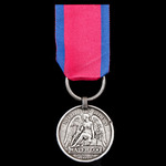 A good Waterloo Medal 1815, fitted with original steel clip, but replaced split ring suspension, ...