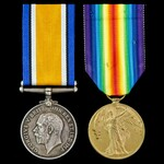 Great War pair awarded to Private J.J. Doel, King's Royal Rifle Corps.