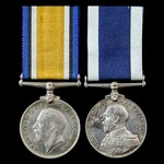 Great War Convoy Escort and Minesweeping duties British War Medal and Royal Navy Long Service and...