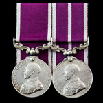 Great War Army Long Service and Western Front operations Army Meritorious Service Medal pair awar...