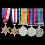 Second World War North West Europe and post war Palestine Jewish Revolt group awarded to Captain ...