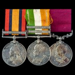 South Africa Boer War and long service group awarded to Sergeant F. West, Military Mounted Police...