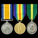 Great War pair and Territorial Force Efficiency Medal awarded to Corporal W.H. Gibbs, 5th Battali...