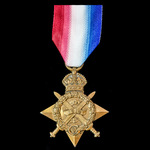 1914 Star awarded to Private J. May, 1st Battalion, Gordon Highlanders who having seen service on...
