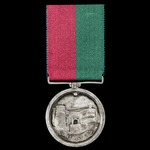 The important Kabul Gate Explosion Party Ghuznee Medal 1839, fitted with original silver rod and ...