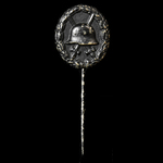 Germany - Imperial: Wound Badge 1914 in Black stick pin badge. A well made example of type.