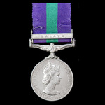 A General Service Medal 1918-1962, EIIR Br.Omn. bust, 1 Clasp: Malaya, awarded to Rifleman P. Mul...