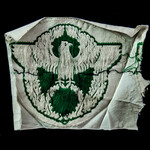 Germany - Third Reich: German Police Sports Vest Small Cloth Eagle in Wreath Badge, green bevo we...
