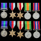 The fascinating and most unusual group of matching awards to the two Shrubsole brothers, who both...