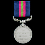 West African Frontier Force Distinguished Conduct Medal, GVR bust, an original unnamed example an...