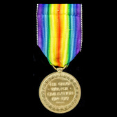 Victory Medal awarded to Private D. Courtis, West Yorkshire Regiment, later Labour Corps.