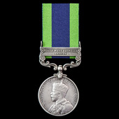 India General Service Medal 1908-1935, 1 Clasp: North West Frontier 1930-31, awarded to Private W...