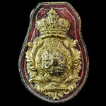 Royal Household Horse Harness Gilt Badge from King George III's Red Harnessed Gold State Coach. B...