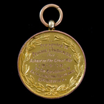 Great War Gold Tribute Medal issued by the villages of Acklington, Guyzance, and Morwick in North...