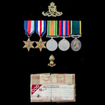Second World War North West Europe and Territorial long service group awarded to Gunner I.F. Fage...