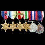 Second World War Atlantic and Mediterranean and Royal Fleet Reserve long service group awarded to...