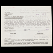 Germany – Third Reich: A Certificate with the reasons for the award of the Croatian Order of Zvon...