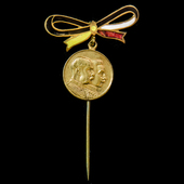 Germany - Imperial / Austria - Empire: Great War Patriotic Pin Badge commemorating the union of A...