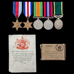 Second World War North West Europe and Territorial long service group awarded to Craftsman G.S. W...