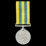 Korea Medal awarded to Trooper P.E. Smith, Royal Armoured Corps, who saw service in Korea during ...