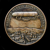   Royal Engineers Balloon School Commemorative Bronze Medal Produced to Commemorate the First Pu...