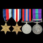Second World War North West Europe and Palestine Jewish Revolt group awarded to Rifleman R.D. Jac...