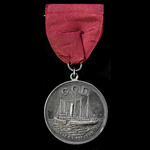 ​  A C.Q.D. Medal in Silver, as awarded to the crews of the White Star steamship Republic, the S....