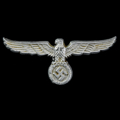Germany - Third Reich: Custom's Official Visor Cap Eagle, aluminium form, no makers marks, comple...