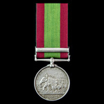 Second Afghanistan War Officer's Afghanistan Medal 1878-1880, one Clasp: Ahmed Khel, awarded to L...