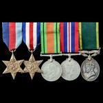 Second World War North West Europe and Militia Reserve Efficiency Medal group awarded to Lieutena...