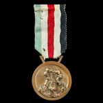Germany - Third Reich: Italo-German Africa Campaign Medal, bronze version, maker marked 'Lorioli ...