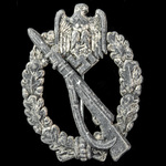 Germany - Third Reich: Infantry Assault Badge in Silver, early to mid-war example, partially conv...