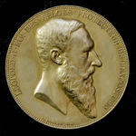   Belgium: Gilt Commemorative Medallion for the Universal Exhibition held at Anvers in 1885. Pro...