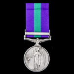 General Service Medal 1918-1962, GVI, 1 Clasp: Palestine 1945-48 awarded to Private F.W. Barton, ...