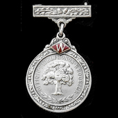 A scarce F.W. Woolworth & Co Ltd Twenty-One Years Faithful Service Medal, awarded to M. Hornsby, ...