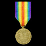 Victory Medal awarded to Sapper W. Booth, Royal Engineers, who was later discharged due to wounds...