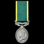 Efficiency Medal, GVI 1st type bust, awarded to Warrant Officer Class 1 H.W. Kay, Royal Electrica...